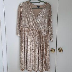 Torrid Gold Velvet Dress